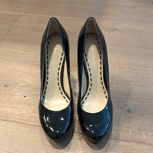 Enzo Angiolini Size 8 Black Patent Leather Heels